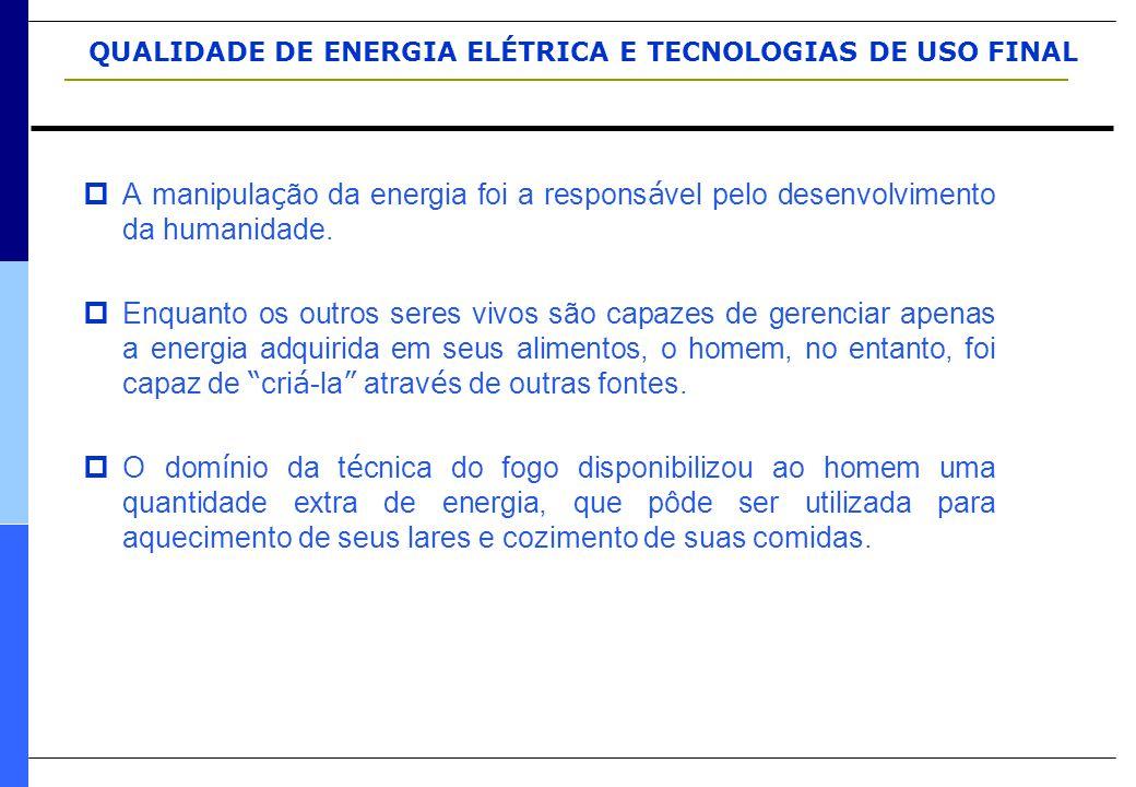 A manipulação da energia foi a responsável pelo desenvolvimento da humanidade.