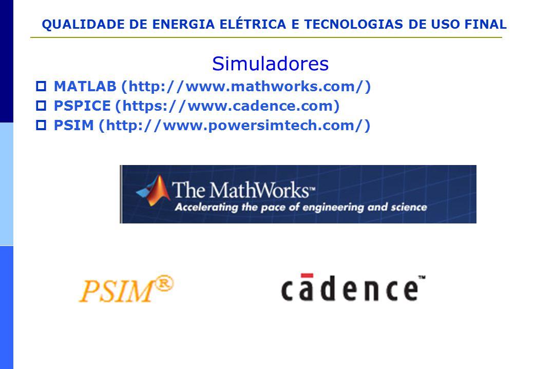 Simuladores MATLAB (http://www.mathworks.com/)