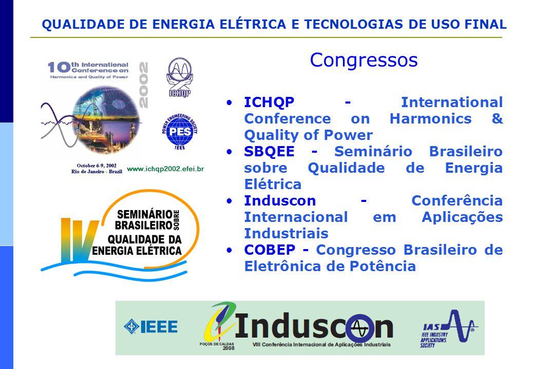 Congressos ICHQP - International Conference on Harmonics & Quality of Power. SBQEE - Seminário Brasileiro sobre Qualidade de Energia Elétrica.