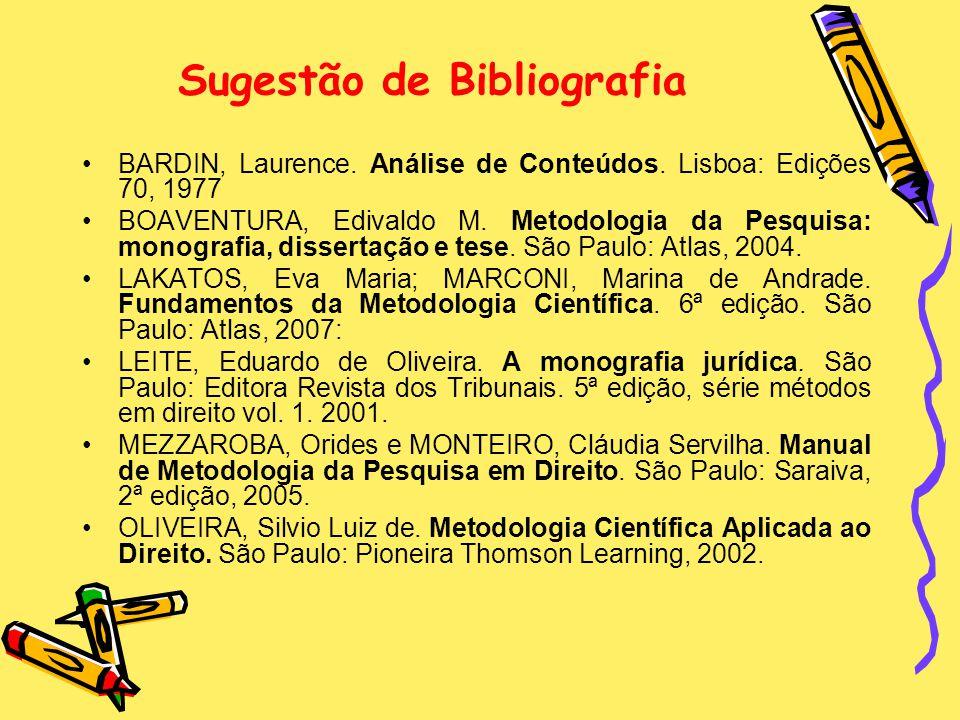 Sugestão de Bibliografia