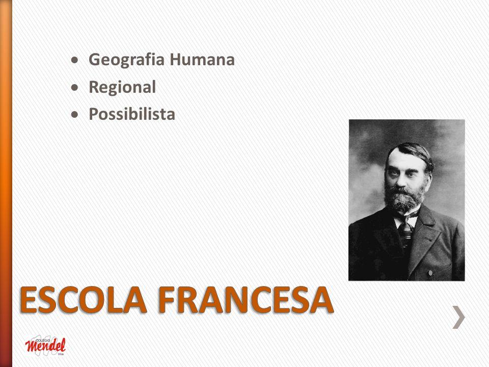 Geografia Humana Regional Possibilista ESCOLA FRANCESA