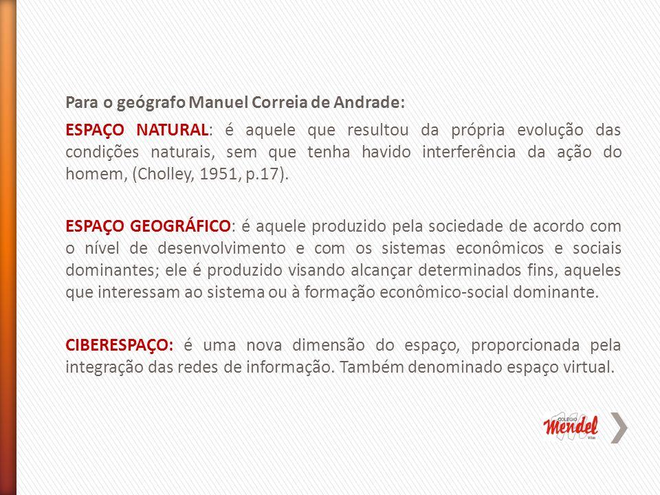 Para o geógrafo Manuel Correia de Andrade: