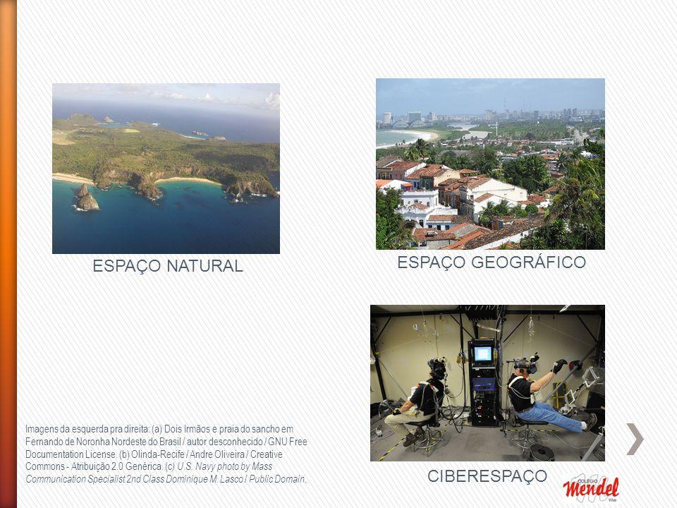 ESPAÇO GEOGRÁFICO ESPAÇO NATURAL CIBERESPAÇO