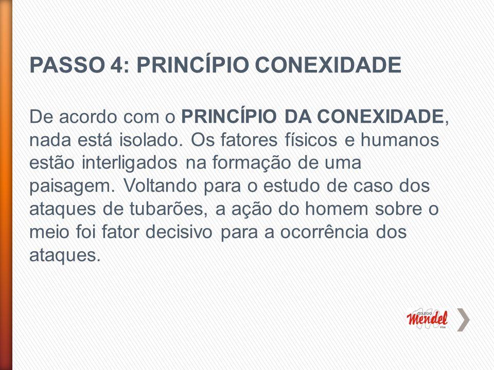 PASSO 4: PRINCÍPIO CONEXIDADE