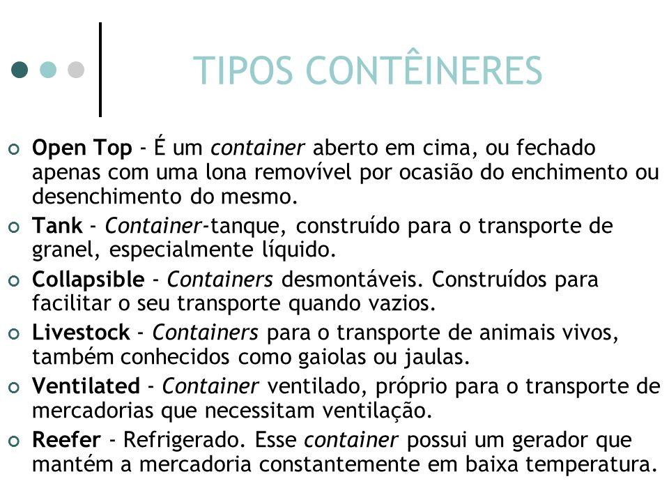 TIPOS CONTÊINERES