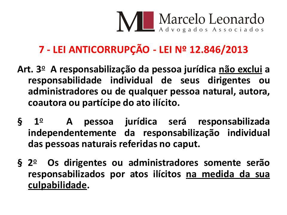7 - LEI ANTICORRUPÇÃO - LEI Nº 12.846/2013