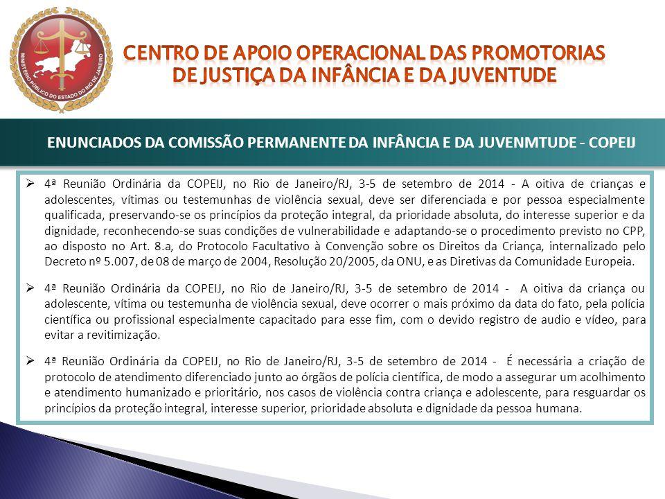 ENUNCIADOS DA COMISSÃO PERMANENTE DA INFÂNCIA E DA JUVENMTUDE - COPEIJ