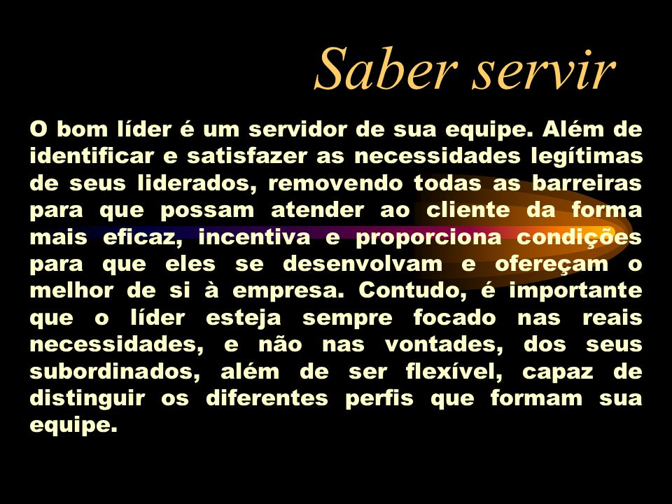 Saber servir