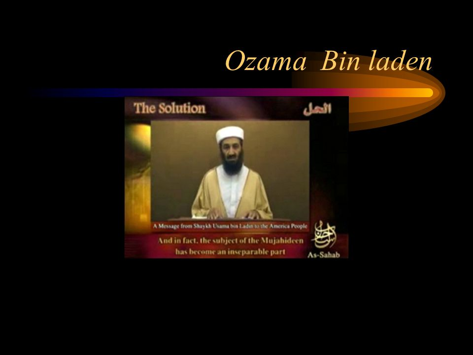 Ozama Bin laden