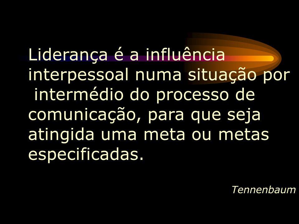 Liderança é a influência interpessoal numa situação por