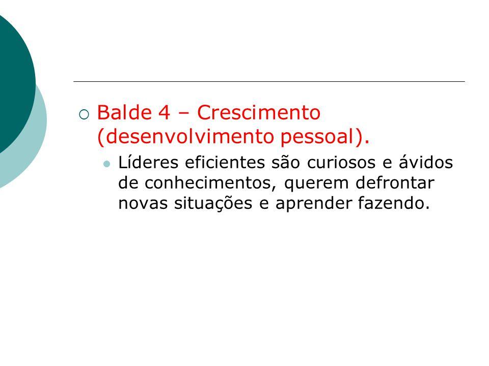 Balde 4 – Crescimento (desenvolvimento pessoal).