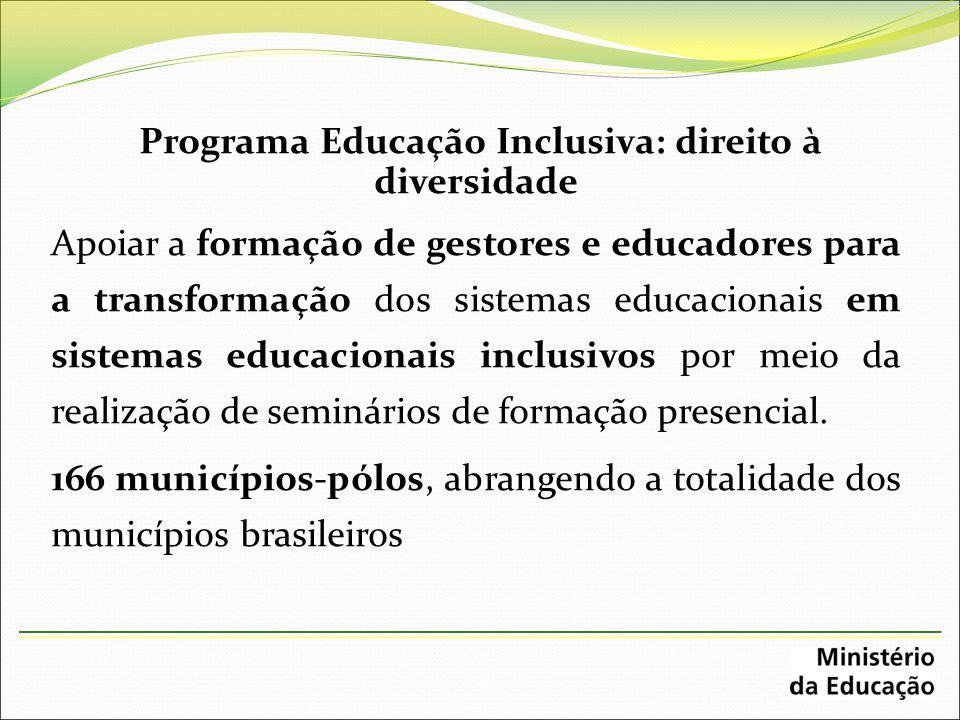 Programa Educação Inclusiva: direito à diversidade