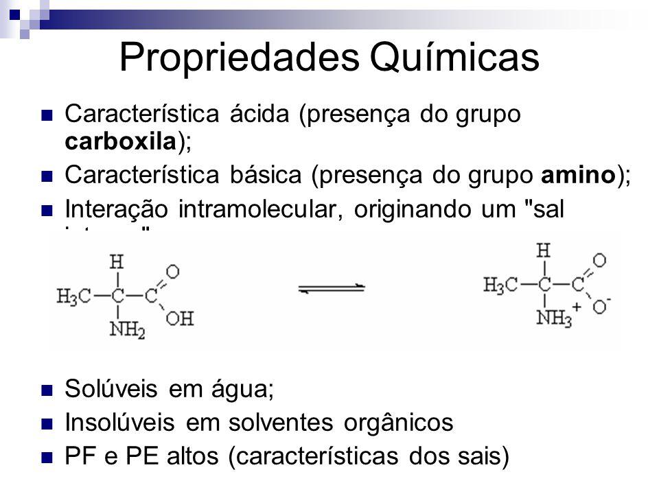 Propriedades Químicas