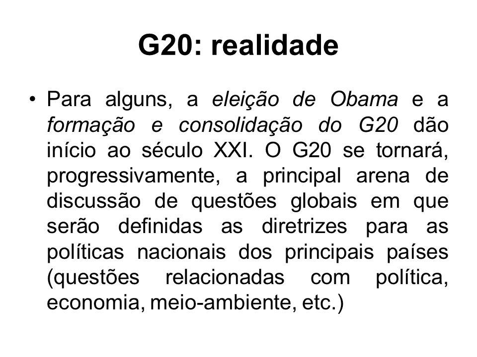 G20: realidade