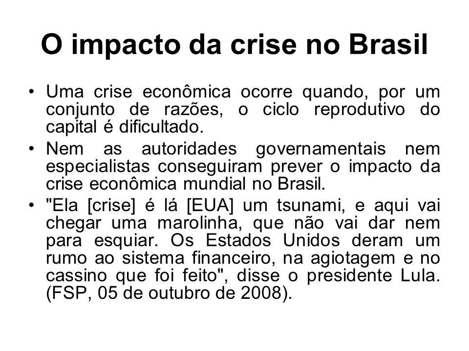 O impacto da crise no Brasil