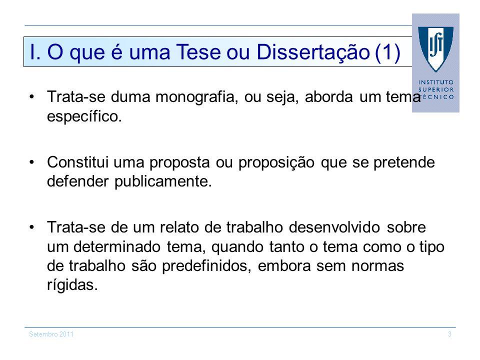 I. O que é uma Tese ou Dissertação (1)