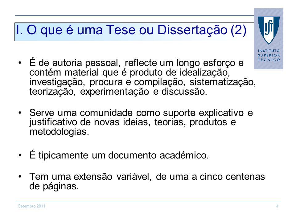 I. O que é uma Tese ou Dissertação (2)