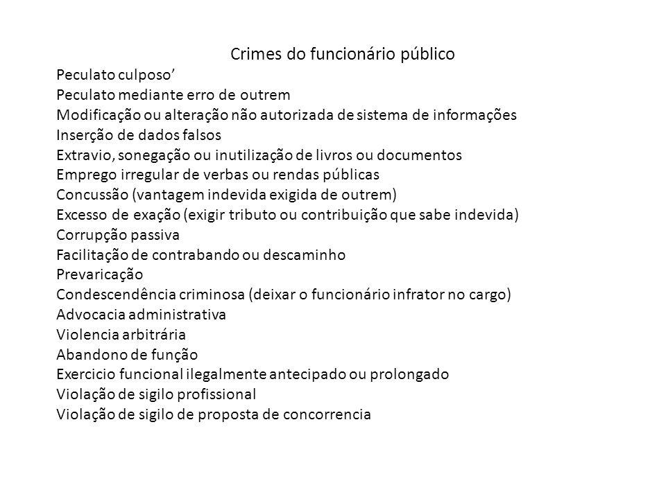 Crimes do funcionário público
