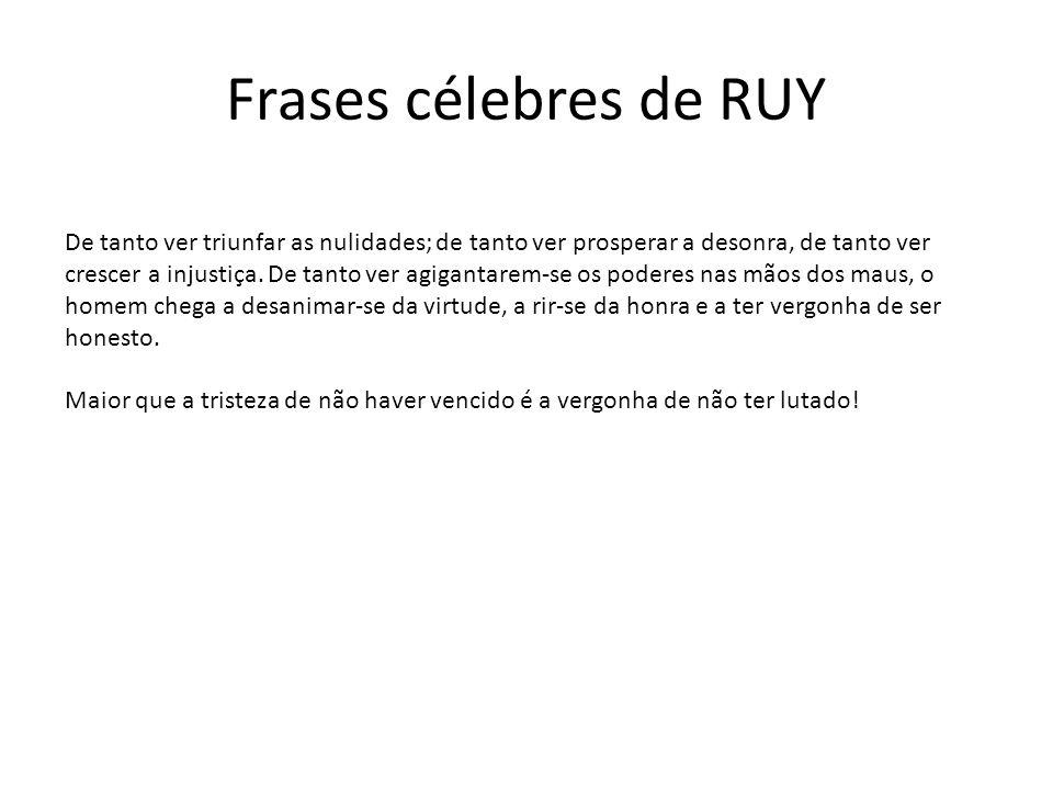 Frases célebres de RUY