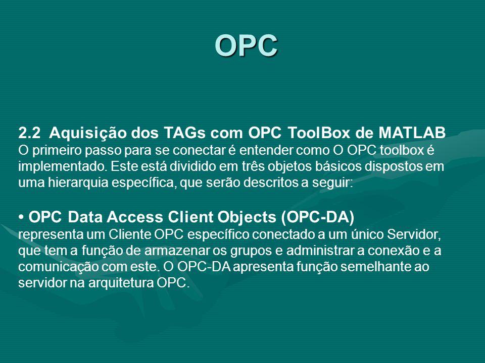 OPC 2.2 Aquisição dos TAGs com OPC ToolBox de MATLAB
