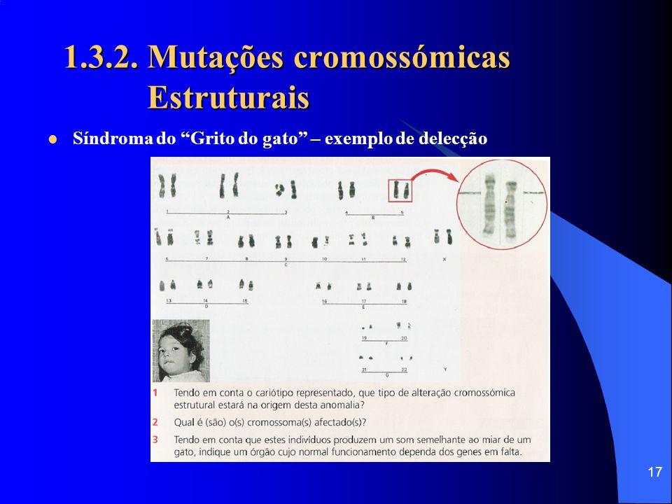 1.3.2. Mutações cromossómicas Estruturais