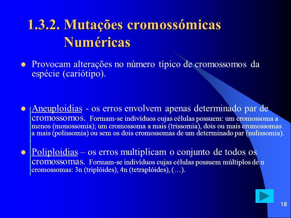 1.3.2. Mutações cromossómicas Numéricas