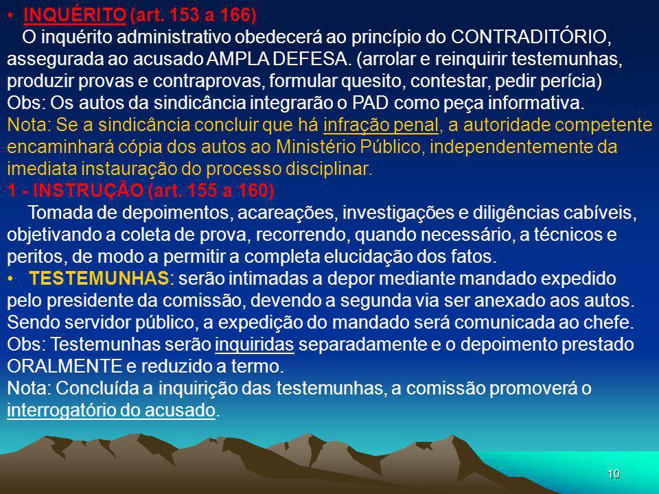 INQUÉRITO (art. 153 a 166)