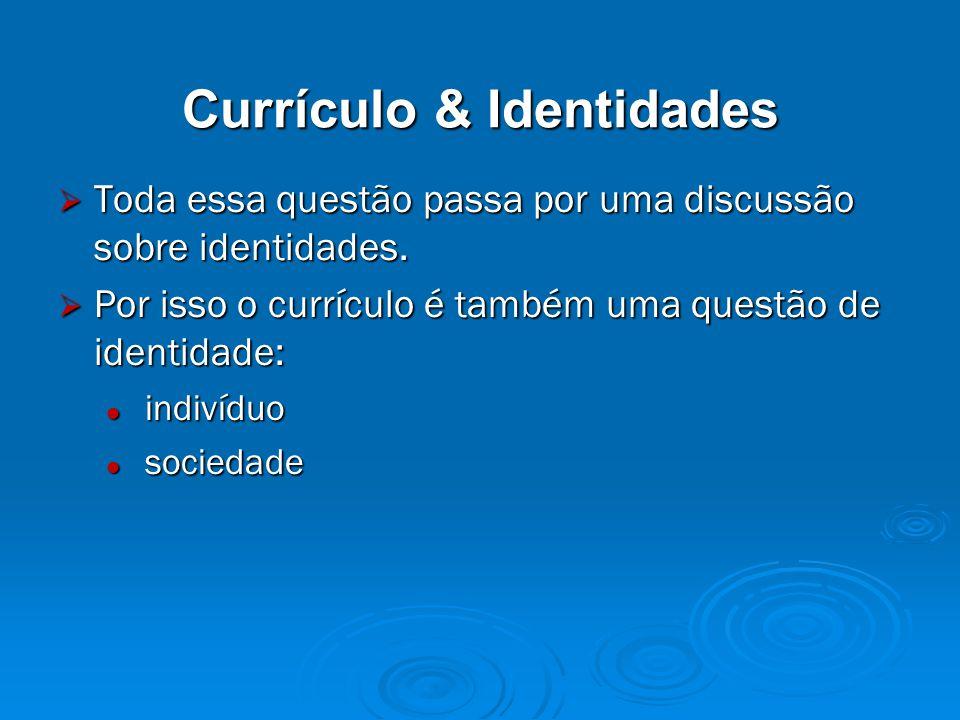Currículo & Identidades