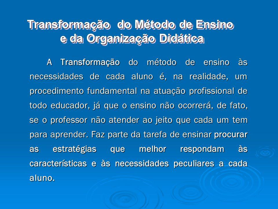 Transformação do Método de Ensino e da Organização Didática