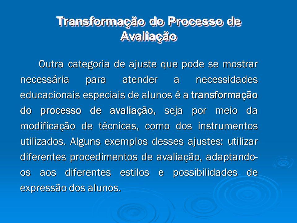 Transformação do Processo de Avaliação