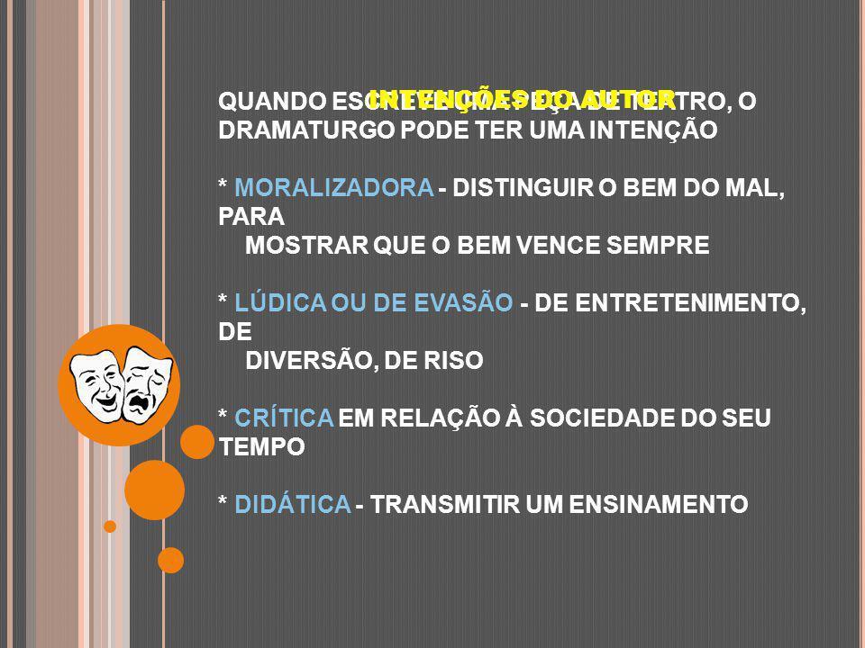 INTENÇÕES DO AUTOR