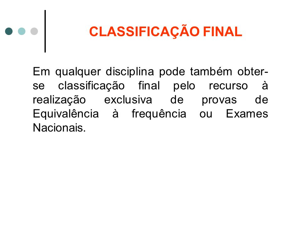 CLASSIFICAÇÃO FINAL