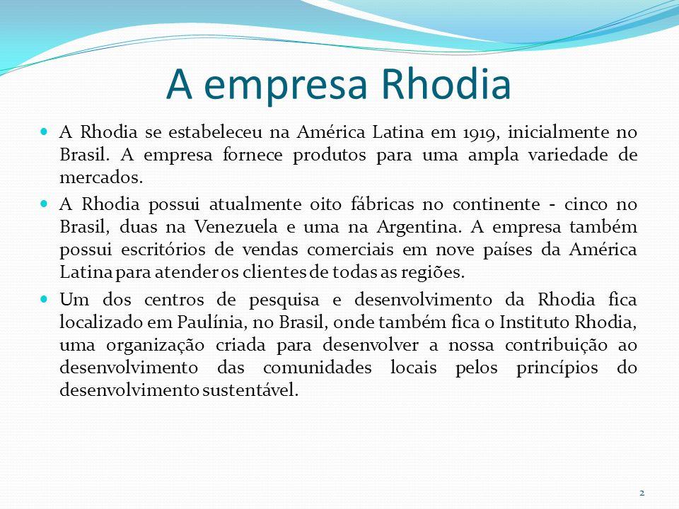 A empresa Rhodia