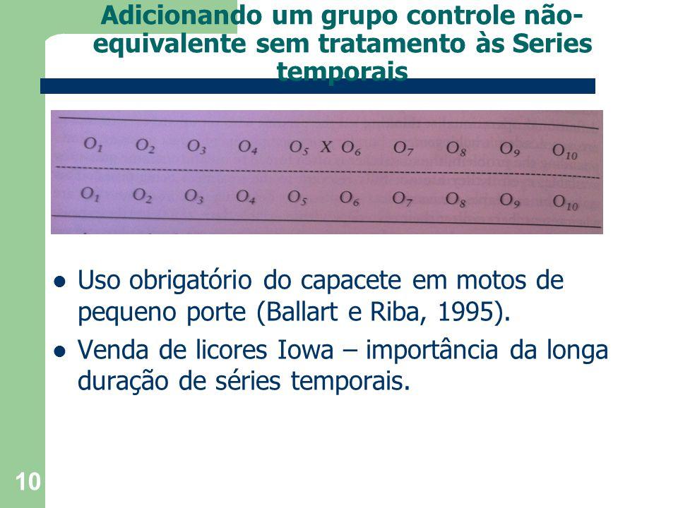 Adicionando um grupo controle não-equivalente sem tratamento às Series temporais
