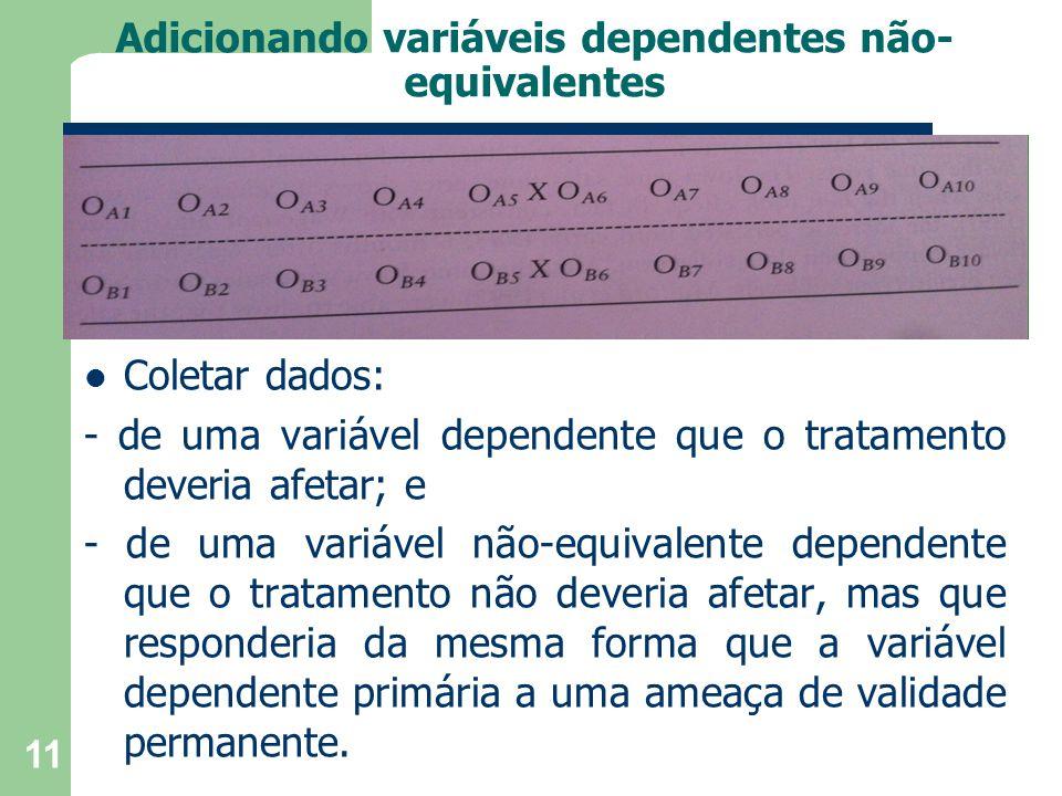 Adicionando variáveis dependentes não-equivalentes