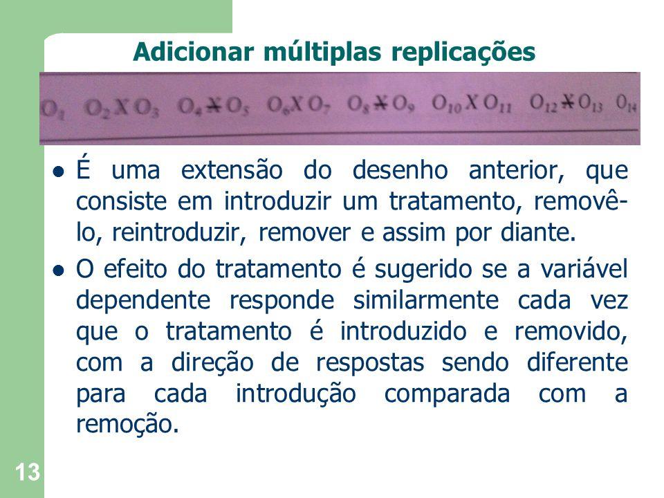 Adicionar múltiplas replicações