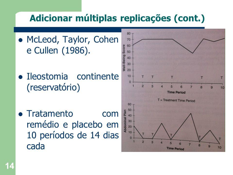 Adicionar múltiplas replicações (cont.)