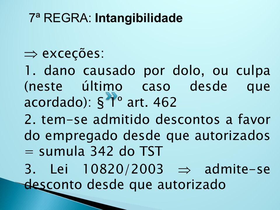 7ª REGRA: Intangibilidade