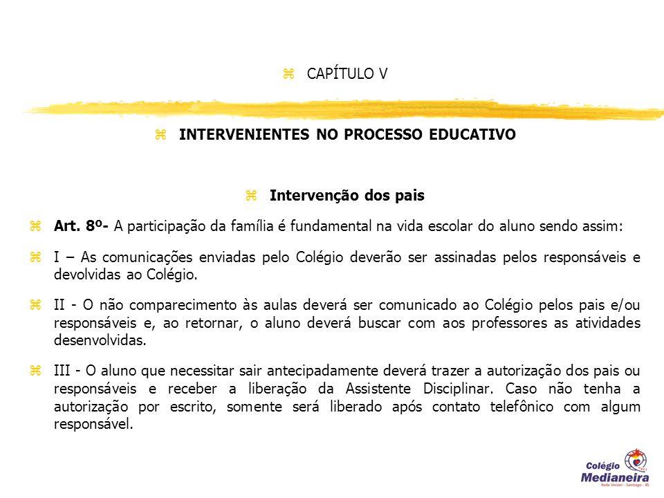 INTERVENIENTES NO PROCESSO EDUCATIVO