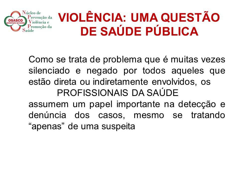 VIOLÊNCIA: UMA QUESTÃO DE SAÚDE PÚBLICA