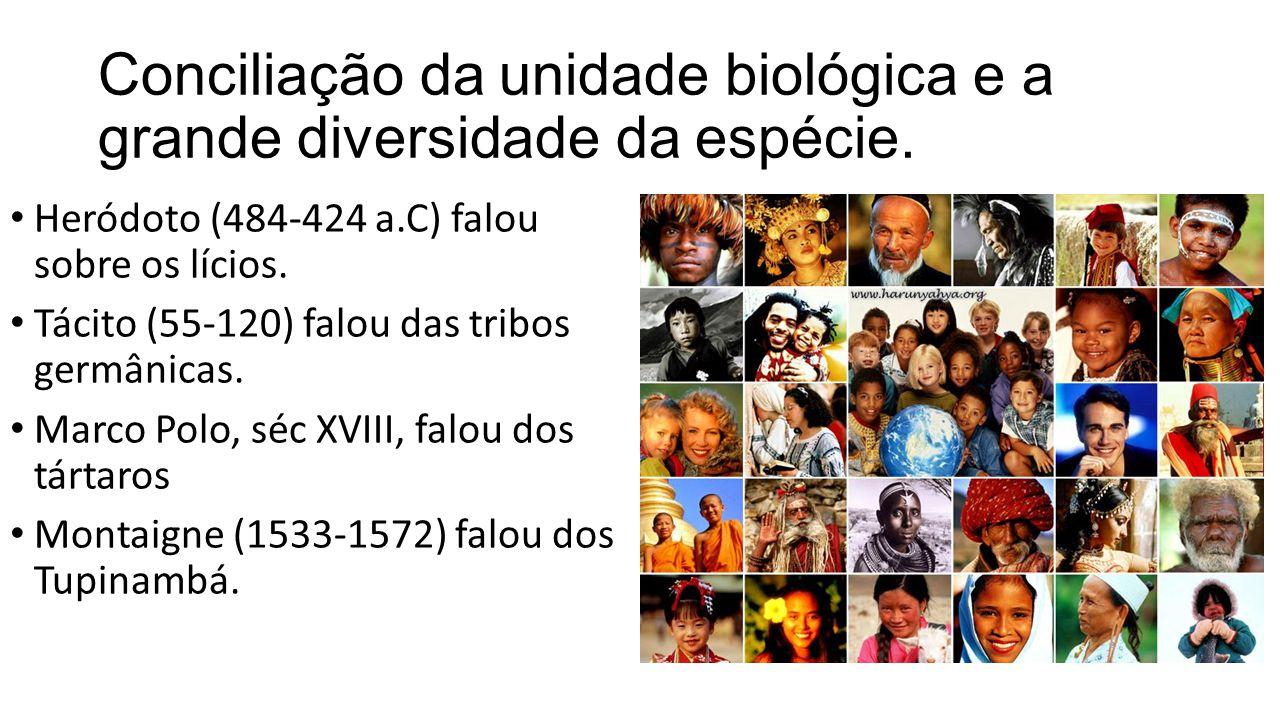 Conciliação da unidade biológica e a grande diversidade da espécie.