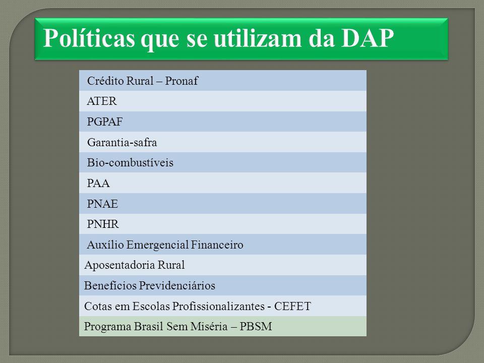 Políticas que se utilizam da DAP