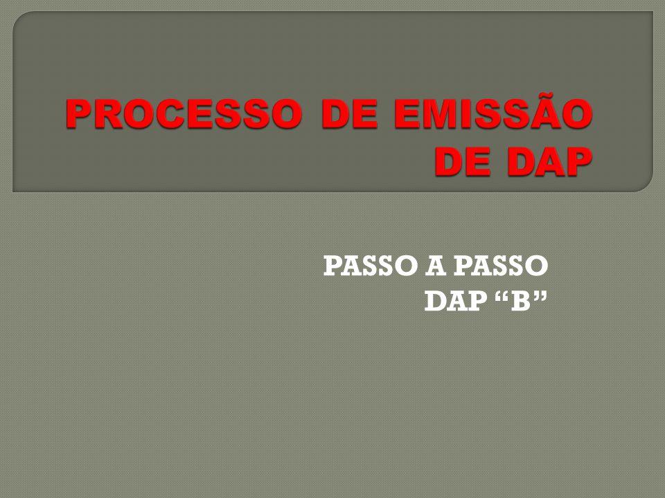 PROCESSO DE EMISSÃO DE DAP