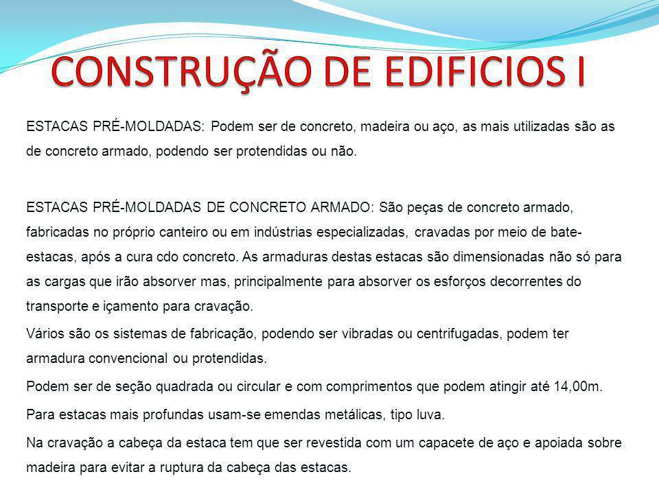 CONSTRUÇÃO DE EDIFICIOS I
