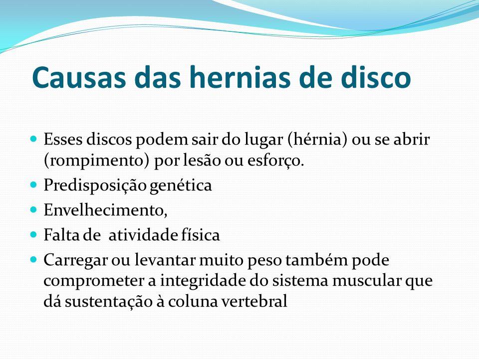 Causas das hernias de disco