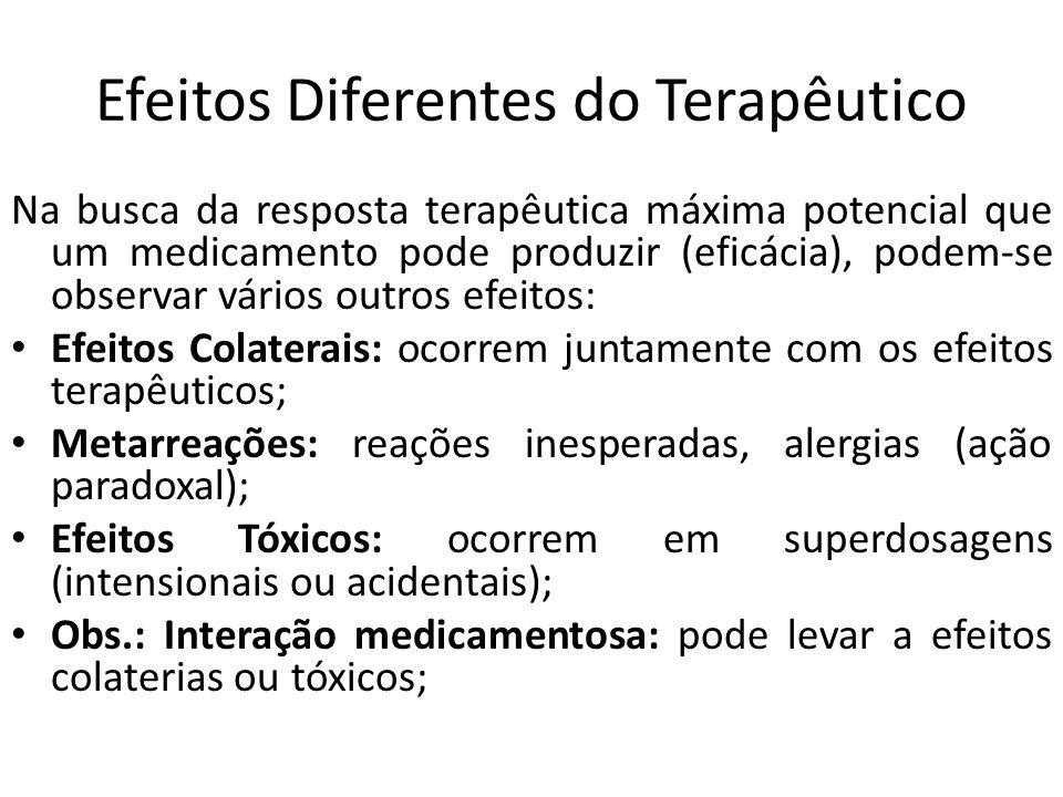 Efeitos Diferentes do Terapêutico