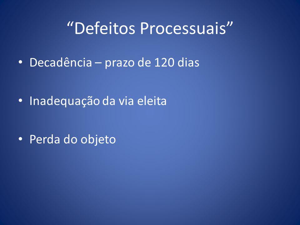 Defeitos Processuais