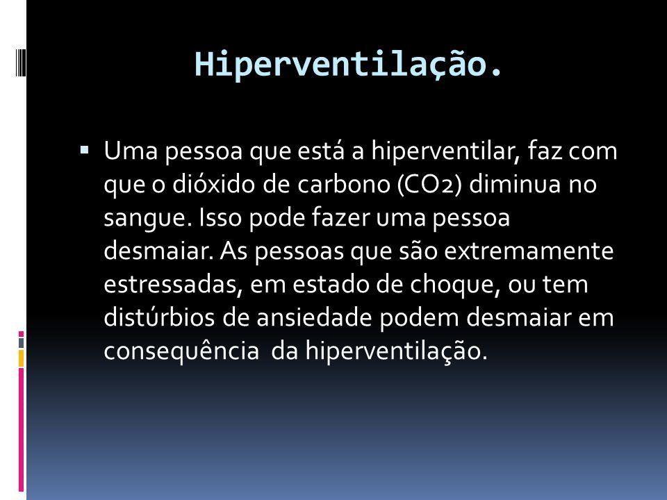 Hiperventilação.