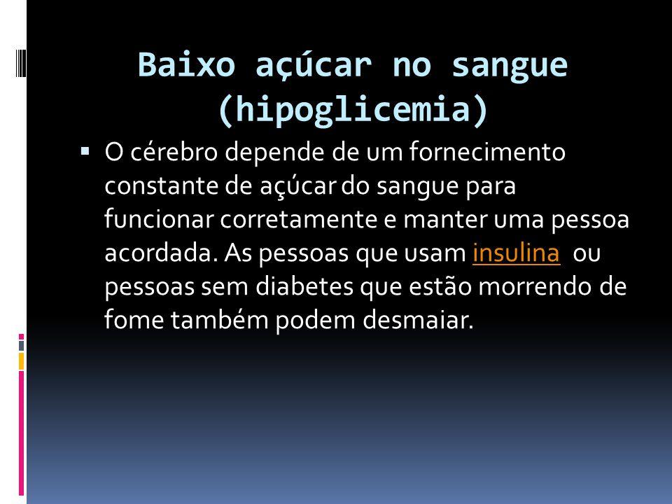 Baixo açúcar no sangue (hipoglicemia)