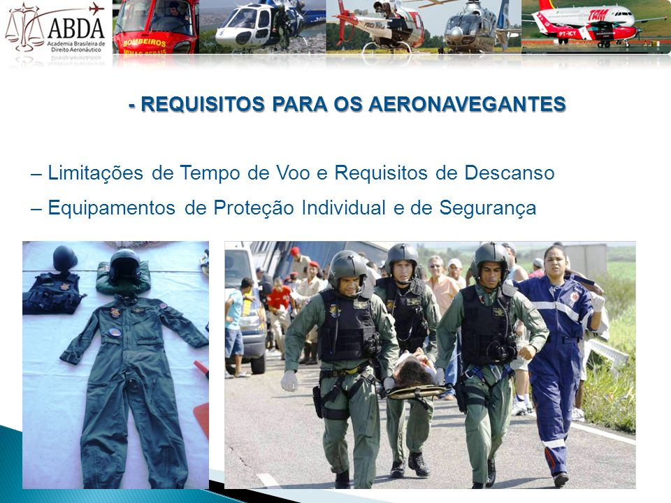 - REQUISITOS PARA OS AERONAVEGANTES
